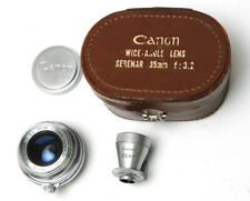 Canon Camera Co.35mm f3.2 Serenar Leica Screw Mount M39 With Case And Finder EX