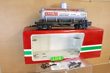 LGB 4080 Y01 G SCALE TRANSCONTINENTAL OIL COMPANY TANK WAGON MINT BOXED nk