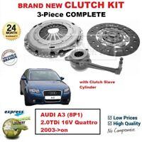 Per Audi A3 (8P1) 2.0TDi 16V Quattro 2003- > Su Nuovo 3PC Kit Frizione Con Csc