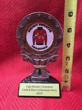 "6"" Ugly Sweater Champion Trophy Award-Free Shipping-Free Engraving"