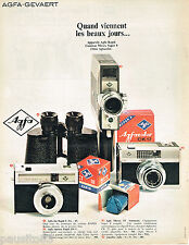 PUBLICITE ADVERTISING 065  1967  AGFA  appareils photo caméra  MOVEX SUPER 8