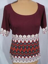 NWT ST. JOHN Knits Moroccan Tile Print Stretch Jersey Top Shirt sz L $245