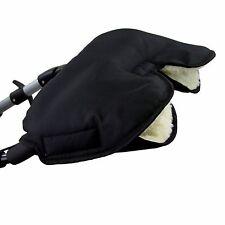 HANDMUFF MUFF Handwärmer Handschuh für Kinderwagen mit LAMMWOLLE SCHWARZ