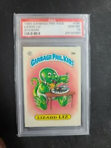 1985 Topps Garbage Pail Kids Lizard Liz Matte Sticker #38b Series 1 OS1 PSA 10