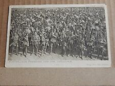 Postcard WW1 Australians Parading For The Trenches posted 1916