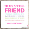 Funny Best Friend Birthday Card Bestie Joke Best Friends Gift Gin Rude Sarcastic