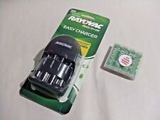 Rayovac Easy Charger for AA / AAA and 4-pack ChargeIt! Rechargeable AA Batteries