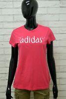 Maglia ADIDAS Donna Taglia Size S Maglietta Shirt Woman Cotone Manica Corta Slim