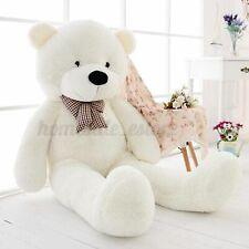 55'' White Teddy Bear Case Bow Cuddly Soft Plush Animal Toy Dolls Girl