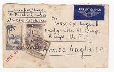 WW2 Morocco 'P Corps' Armée Anglaise MEF Airmail Cover Idle Gossip Sinks Ships