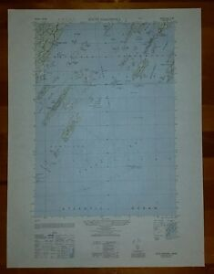 1940's Army (like USGS) topo map South Harpswell Maine 6971 II NE Casco Bay