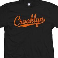 Crooklyn Script T-Shirt - Baseball Tail Team Brooklyn BK NY - All Sizes & Colors