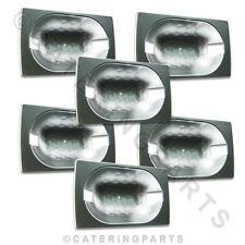 6 x CARROPONTE Lampada riflettore piatto per RISCALDATA Display Montaggio spinta