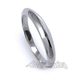 Graduated Knife Edge Wedding Band Ring Solid Platinum 950  FREE Shipping. #R1417