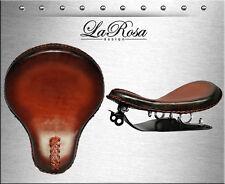 "16"" LaRosa Antique Shedron Leather Solo Seat + Harley Sportster Bobber Mount Kit"