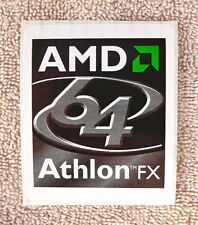 "Large AMD Athlon 64 FX Sticker 2-1/2"" x 3"" Case Badge Logo Label USA Seller"