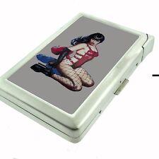 Cigarette Case with Built In Lighter Pin Up Girl Design-002