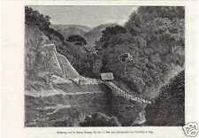 Antique print Batang Massang rivier Sumatra VOC 1881