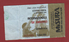 Orig.Ticket    UEFA Cup  84/85    INTER MAILAND - HAMBURGER SV    1/8 FINALE  !!