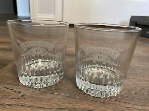 SET of 2 - Vintage Chivas Regal 12 Year Aged Scotch Double Rocks Whiskey Glasses