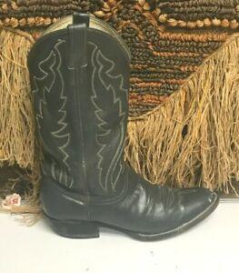 Diamond J Gray Leather Justin Boots Western Cowboy Mens 9 D 1240
