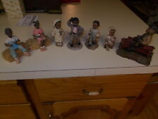 7 African American Figurines Tom Clark , Amy Addy Etc. Really Cute