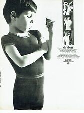 PUBLICITE ADVERTISING 126  1966   sous vetements enfants Dralon Bayer