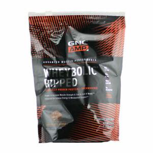 GNC Amp Wheybolic Ripped-Chocolate Fudge 21.43oz EX: 11/2021