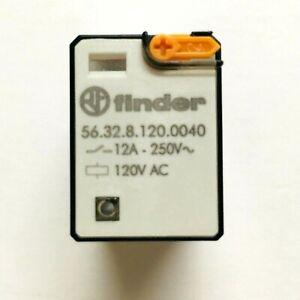 56.32.8.120.0040 Finder Plug-In Relay, DPDT 12A, 120V AC coil, test