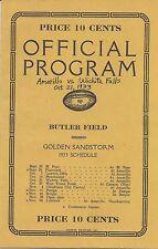 RARE 1933 AMARILLO vs WICHITA FALLS COYOTES (TEXAS) High School FOOTBALL Program