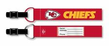 Kansas City Chiefs Luggage ID Tag 2 Pack Travel Bag Tags NFL Licensed