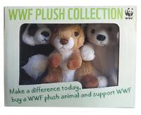 WWF Plüschtiere 3er Set Polarbär, Eichhörnchen, Pandabär 100 % Plüsch NEUWARE