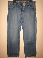 9QQ) MENS BLUE FERAUD JEANS BUTTON FLY STRAIGHT LEG  WAIST 36R LEG 31