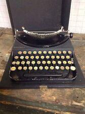 VINTAGE 1928 BLACK PORTABLE REMINGTON #1 ? TYPEWRITER WORKS