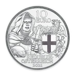 Brüderlichkeit Silbermünze 2021 Österreich Mit Kettenhemd und Schwert PP Proof