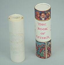 Rare Megillat Esther Scroll Book PURIM Jewish Synagogue, Judaica Art Israel 1972