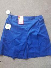 Adults Royal Blue Stubbies Sz 10a School Uniform Skort Style Culottes -