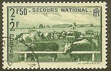 """FRANCE TIMBRE STAMP 469 """" ELEVAGE VACHES 2F50+2F """" OBLITERE TB"""