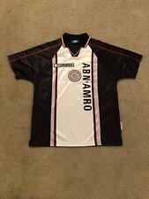 Vtg 1998 Ajax Amsterdam Eredivisie Adult Large White Umbro Soccer Jersey Futbol