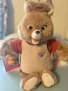 "Vintage Teddy Ruxpin With ""The Airship Book And Tape"" Works!!"