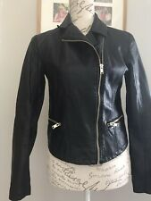 New Look Faux Leather Jacket Size 10