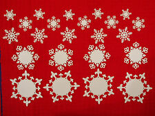 """23 Spellbinders Die Cut """"Snowflakes"""" Embellishments"""