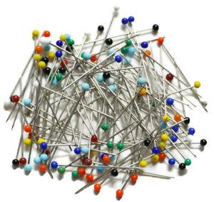 150-tlg. Stecknadeln Glaskopfstecknadeln Rundkopf Nadeln farbig Nähen