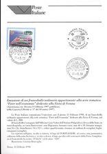 ITALIA 1998 FIERA DI VERONA  BOLLETTINO COMPLETO DI FRANCOBOLLI  FDC