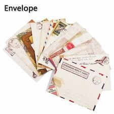 12pcs/set  Vintage Envelopes Mini Retro Airmail Brown Kraft Paper