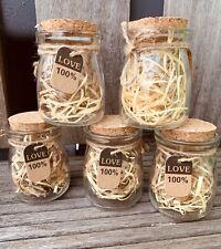 80 X Mini Glass Storage Jars Xmas Wedding Favours. Wedding Decor. Crafts