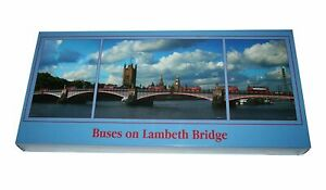 JIGSAW PUZZLE  2000 PIECES  1 X 1000, 2 X 500 - BUSES ON LAMBETH BRIDGE