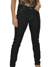 "High Waisted SKINNY Stretch Denim Jeans 31"" Leg 12-22 Black 14"