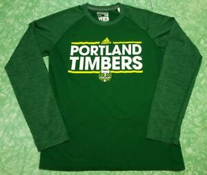 Adidas Portland Timbers Climalite Soccer MLS Ultimate Tee Long Sleeve Size M