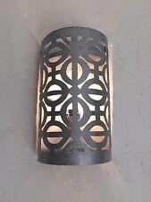 lámpara de pared marroquí hierro forjado blanco araña farolillo oriental 3b